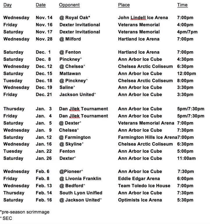 Schedule 2018-11-11